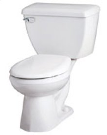 """White Ultra Flush® 1.28 Gpf 10"""" Rough-in Two-piece Round Front Toilet"""