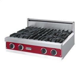 "Apple Red 30"" Open Burner Rangetop - VGRT (30"" wide, four burners)"