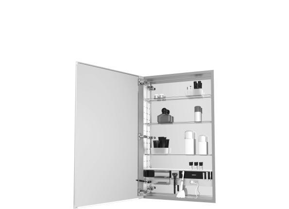 Decorative Cabinet with Bleached Oak Glass Door