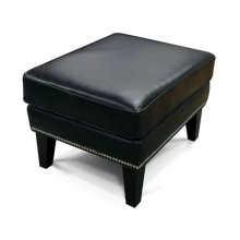 Leather Luther Ottoman with Nails 4537ALN