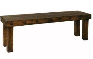 4' Laguna Bench W/Wood Seat