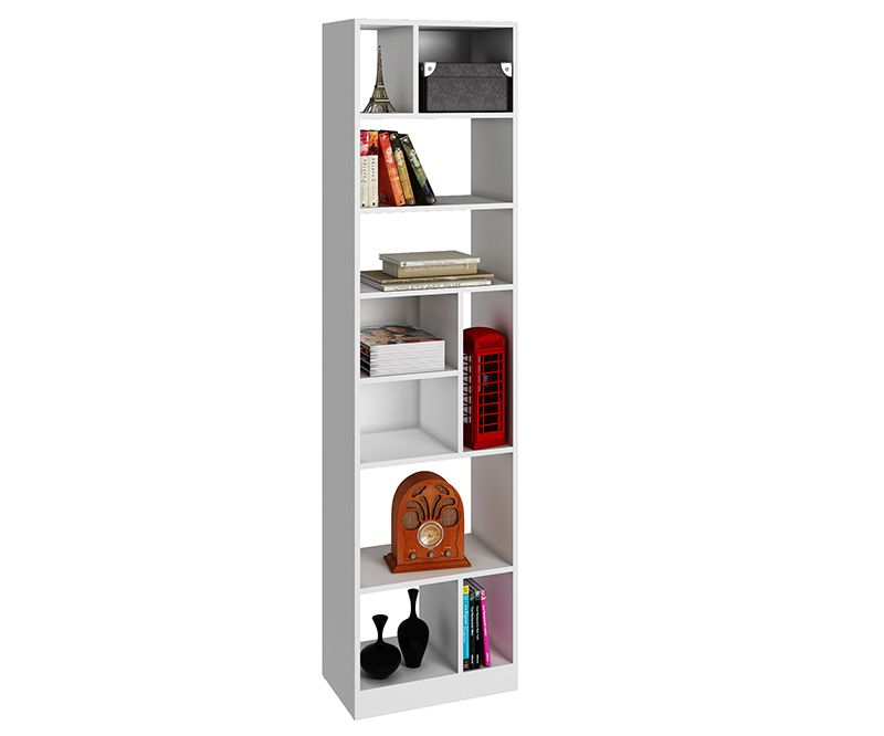Valenca Bookcase 4.0 with 10 shelves in White