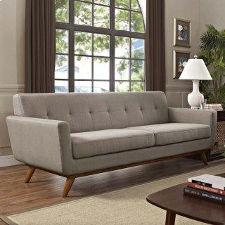 Engage Upholstered Fabric Sofa in Granite