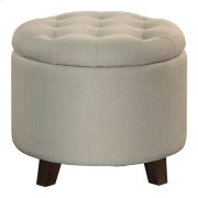 Storage Ottoman, Beige Product Image