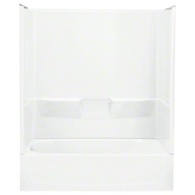 "Performa™, Series 7104, 60"" x 29"" x 75-1/2"" Bath/Shower with Age in Place Backers - Left-hand Drain - White"