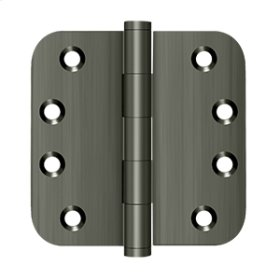 "4""x 4""x 5/8"" Radius Hinges - Antique Nickel"