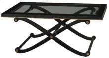 Regency Black Glass Top Cocktail Table