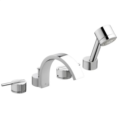 Rem Deck Mount Bathtub Faucet with Hand Shower - Polished Chrome