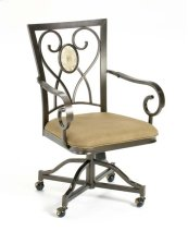 Brookside Oval Back Caster Dining Chair