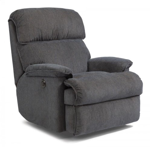 Geneva Fabric Power Rocking Recliner