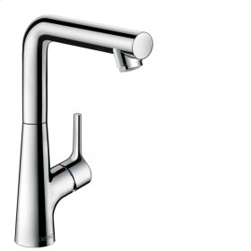 Chrome Single-Hole Faucet 210 with Swivel Spout and Pop-Up Drain, 1.2 GPM