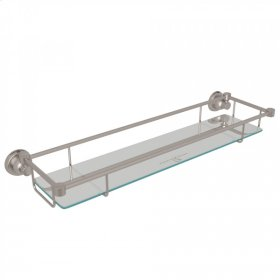 Satin Nickel Perrin & Rowe Holborn Wall Mount Glass Vanity Shelf