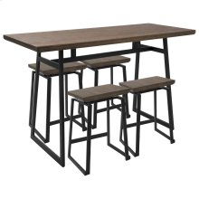 Geo Counter Set - Black Metal, Brown Bamboo