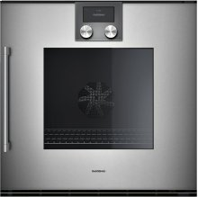 "200 Series Single Oven Full Glass Door In Gaggenau Metallic Width 24"" (60 Cm) Right-hinged"