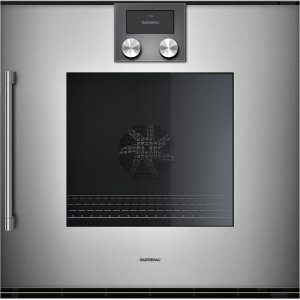 "Gaggenau200 series 200 series single oven Glass front in Gaggenau Metallic Width 24"" (60 cm) right-hinged"