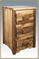 Homestead Nightstand with 3 Drawers - Stained and Lacquered Product Image