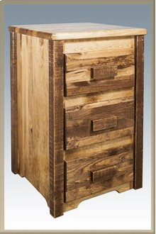 Homestead Nightstand with 3 Drawers - Stained and Lacquered