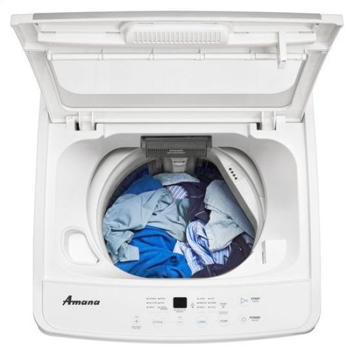 1.5 cu. ft. Compact Washer with Stainless Steel Tub - white