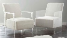 """Andrea Arm Chair, Ivory 32""""x25""""x35"""""""