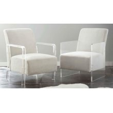 "Andrea Arm Chair, Ivory 32""x25""x35"""