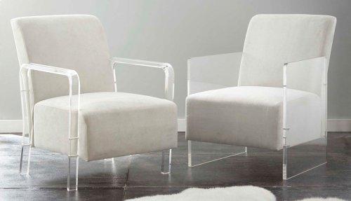 "Andrea Arm Chair, Grey 32""x25""x35"""