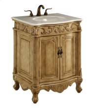 27 in. Single Bathroom Vanity set in Antique Beige