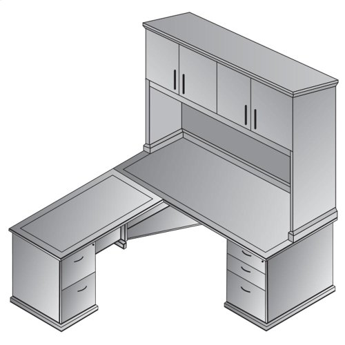 Mendocino L-shape W/ Hutch 72x72x30h