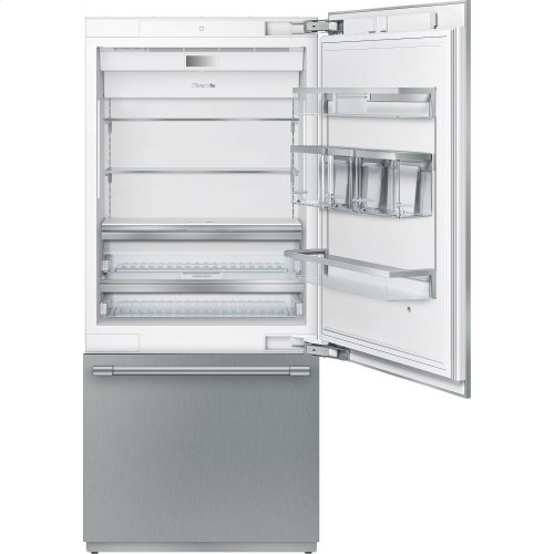 36-Inch Built-in Stainless Steel Professional Two Door Bottom Freezer