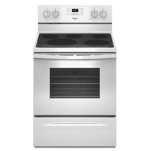 5.3 Cu. Ft. Freestanding Electric Range with High-Heat Self-Cleaning System - WHITE