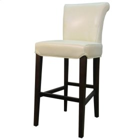 Bentley Leather Bar Stool, Beige