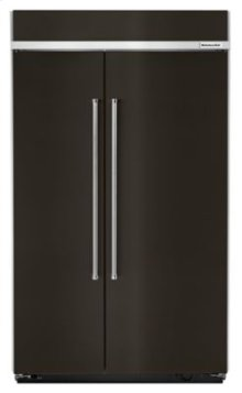 30.0 cu. ft 48-Inch Width Built-In Side by Side Refrigerator with PrintShield™ Finish - Black Stainless
