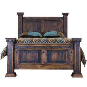 "Queen : 67"" x 67"" x 95"" Finca Bed with Reclaimed Wood Panels"
