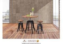 "24"" Iron Barstool w/wooden Seat & Back"