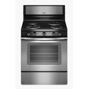 4.8 Cu. Ft. Freestanding Electric Range with High-Heat Self-Cleaning System - BLACK-ON-STAINLESS