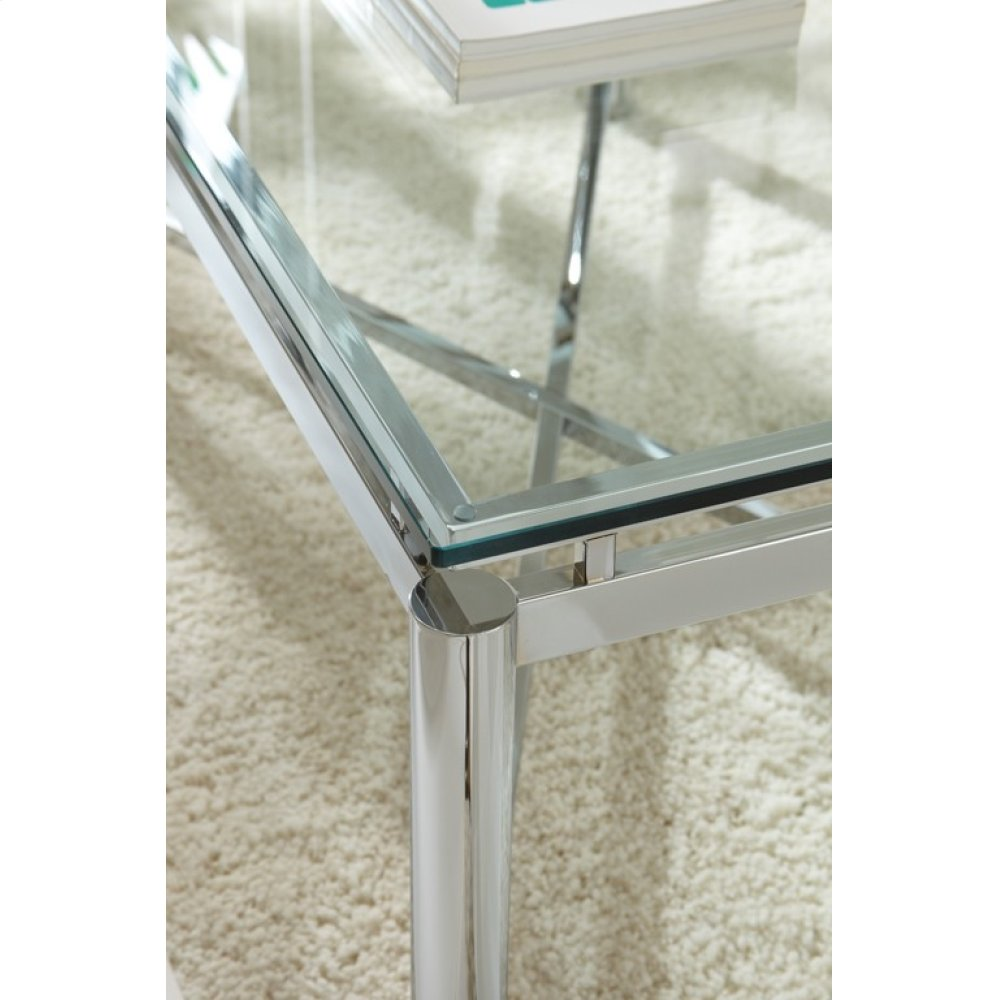 """Nova End Table Glass Top 24"""" x 24"""" 12mm tempered glass"""