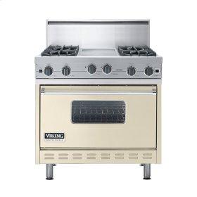 """Biscuit 36"""" Open Burner Commercial Depth Range - VGRC (36"""" wide, four burners 12"""" wide griddle/simmer plate)"""