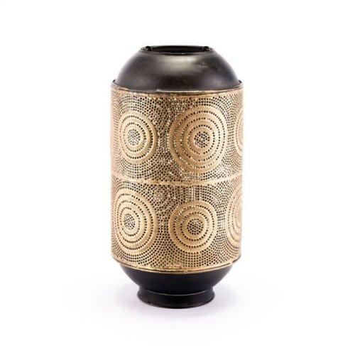 Espiral Candle Holder Lg Antique Gold