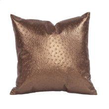 """16"""" x 16"""" Pillow Ostrich Copper"""