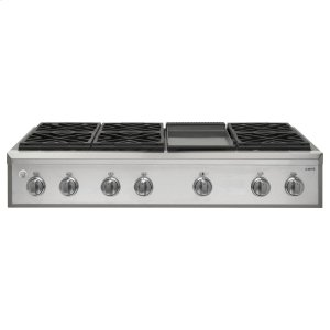 "GE Cafe48"" Professional Gas Rangetop with 6 Burners and Griddle (Natural Gas)"