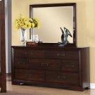 Riata - Mirror - Warm Walnut Finish Product Image