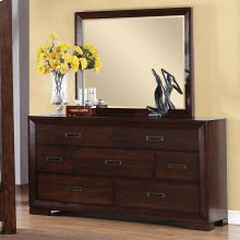 Riata - Mirror - Warm Walnut Finish