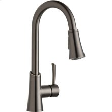 Elkay Gourmet Single Hole Bar Faucet with Pull-down Spray and Forward Only Lever Handle Antique Steel