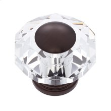 Old World Bronze 50 mm 8-Sided Crystal Knob