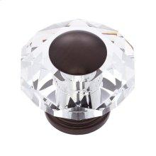 Old World Bronze 50 mm 8-Sided Crystal Knob