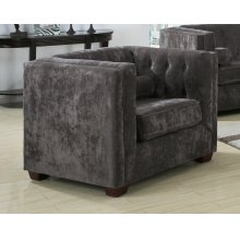 Alexis Transitional Charcoal Chair