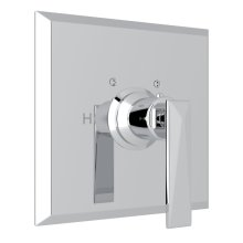Polished Chrome Vincent Thermostatic Trim Plate Without Volume Control with Metal Lever