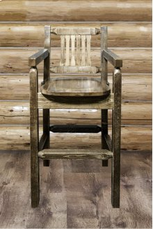 Homestead Captains Barstool with Back - Stained and Lacquered