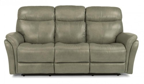 Zoey Leather Power Reclining Sofa with Power Headrests