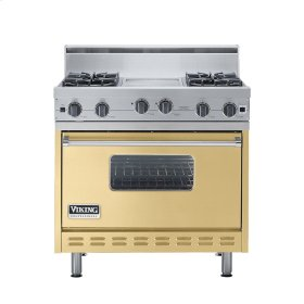 """Golden Mist 36"""" Open Burner Range - VGIC (36"""" wide, four burners 12"""" wide griddle/simmer plate)"""