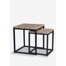 (LS) Denton side table Set of 2 - Bistro Grey (20x20x22 / 16x16x18.5)